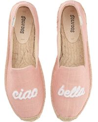 Soludos - Ciao Bella Smoking Slipper (dusty Rose) Women's Flat Shoes - Lyst