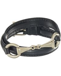 Lauren by Ralph Lauren - Black 16 Leather Wrap Bracelet (gold) Bracelet - Lyst
