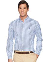 Polo Ralph Lauren - Classic Fit Performance Woven Sports Shirt (white/oceanus Blue) Men's Clothing - Lyst
