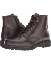 Frye - Dawson Lug Workboot (black Wp Smooth Pull-up) Men's Boots - Lyst