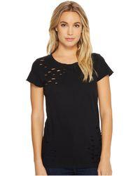 Alternative Apparel - Super Distressed Vintage Tee (black Reactive) Women's T Shirt - Lyst