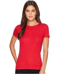 Lauren by Ralph Lauren - Stretch Cotton T-shirt (crimson) Women's T Shirt - Lyst