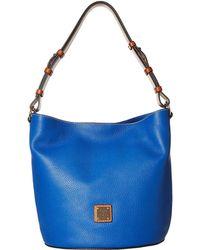 738456ef842a Dooney   Bourke - Pebble Thea Feedbag (black tan Trim) Handbags - Lyst