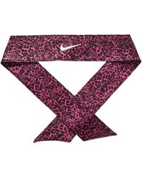 Nike - Printed Dri-fit Head Tie 2.0 (black hyper Magenta white 4719dcb97dd