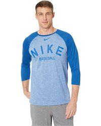 b3883e176803 Lyst - Nike New York Yankees Ac Cross-dye Raglan T-shirt in Blue for Men