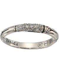 John Hardy - Bamboo Diamond Pave Slim Ring (silver) Ring - Lyst