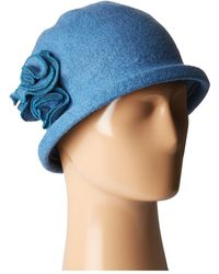 San Diego Hat Company - Cth8088 Soft Knit Cloche With Side Flower (wine) Knit Hats - Lyst