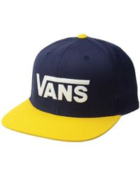 Vans - Drop V Ii Snapback (dress Blues/old Gold) Caps - Lyst