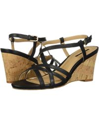Tahari - Future (black Vachetta Leather) Women's Wedge Shoes - Lyst