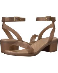 c743bfd1999 Lyst - Boutique 9 Isabella Canvas Leather Slingback Wedge Sandals in ...