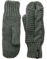 Bula - Lulu Mitten (heathered Grey) Over-mits Gloves - Lyst