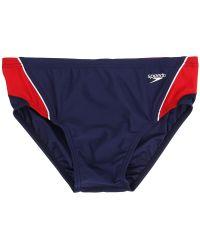 Speedo - Launch Splice Brief (black/blue) Men's Swimwear - Lyst
