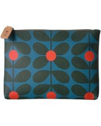 Orla Kiely - Sixties Stem Vinyl Luggage Large Pouch - Lyst