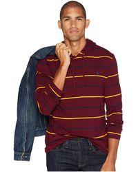 Polo Ralph Lauren - Hooded T-shirt (classic Wine Multi) Men's T Shirt - Lyst