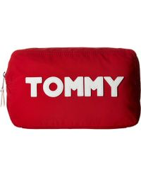 Tommy Hilfiger - Tommy Nylon Large Pouch (tommy Red Print) Travel Pouch - Lyst