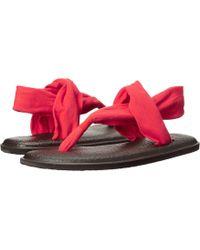 Sanuk - Yoga Sling 2 (black/white) Women's Sandals - Lyst