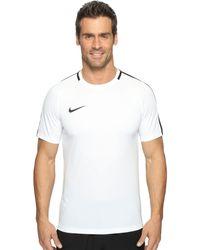 Nike - Dry Academy Soccer Shirt (obsidian/white/white) Men's Clothing - Lyst