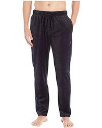 Original Penguin - Velour Contrast Side Pants (true Black/blue Wing Teal) Men's Pajama - Lyst