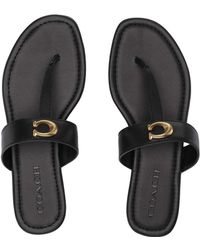 e0d97b174f3 COACH - Jessie Thong Sandal With Signature Buckle (saddle Leather) Women s  Sandals - Lyst