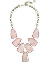 Kendra Scott - Harlow Necklace (rhodium/suspended Black Mother-of-pearl) Necklace - Lyst