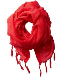 Love Quotes Linen Tassel Scarf (true Love) Scarves - Red