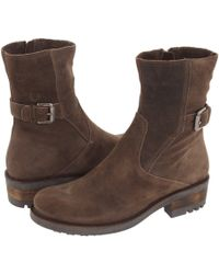 La Canadienne - Camilla (stone Oiled Suede) Women's Zip Boots - Lyst