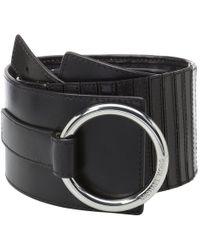 MICHAEL Michael Kors - 75mm (2.8) Woven Leather Belt (black) Women's Belts - Lyst