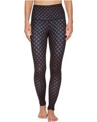 The North Face - Contoured Tech High-rise Tights (asphalt Grey/tnf Black Diamond Print) Women's Casual Pants - Lyst