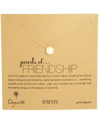 Dogeared - Pearls Of Friendship Necklace (sterling Silver) Necklace - Lyst