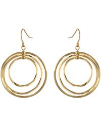 Lauren by Ralph Lauren | Small Round Bevel Ring Gypsy Hoop Earrings | Lyst