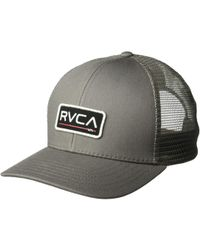 pretty nice db839 a6373 RVCA - Ticket Trucker Ii (grey) Caps - Lyst