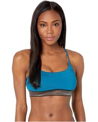 Nike - Solid Cross-back Bikini Top (monsoon Blue) Women's Swimwear - Lyst