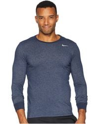 bcc483ddd44 Lyst - Nike Dry Training Long Sleeve T-shirt (black anthracite ...