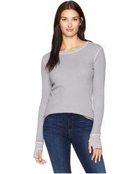Allen Allen - L/s Thumbhole Tee (pale Grey) Women's Long Sleeve Pullover - Lyst