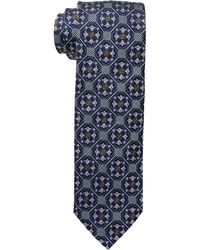 Eton of Sweden - Medallion Tiles Tie (navy) Ties - Lyst