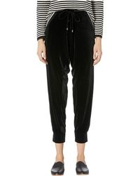 Eileen Fisher - Ankle Drawstring Slouchy Pants (black) Women's Casual Pants - Lyst