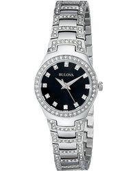 Bulova - Ladies Crystal - 96l170 (silver) Analog Watches - Lyst