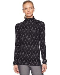 Smartwool - Nts Mid 250 Pattern Zip Top (black/charcoal Heather) Women's Long Sleeve Pullover - Lyst