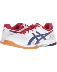 Asics - Gel-rocket 8 (white/deep Ocean) Men's Volleyball Shoes - Lyst
