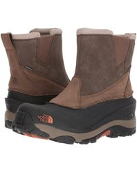 The North Face - Chilkat Iii Pull-on (mudpack Brown/bombay Orange) Men's Boots - Lyst