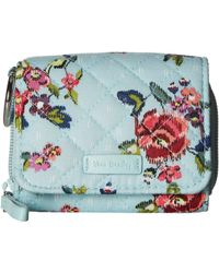 Vera Bradley - Iconic Rfid Card Case (passion Pink) Wallet - Lyst