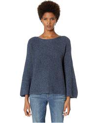 Eileen Fisher - Jewel Neck Bracelet Bell Sleeve Top (midnight) Women's Sweater - Lyst