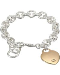 Guess - Heart Bracelet (rose Gold) Bracelet - Lyst