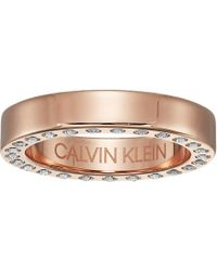 Calvin Klein - Hook - Ring (pink/crystal) Ring - Lyst