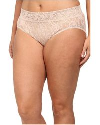 2a59376d06b Hanky Panky Plus Size Organic Cotton Signature Lace French Brief (white)  Women's Underwear in Natural - Lyst