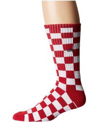 Vans - Checkerboard Ii Crew (red/white Check) Men's Crew Cut Socks Shoes - Lyst