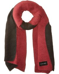 Calvin Klein - Double Faced Pleated Blanket (night) Scarves - Lyst