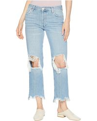 Free People - Maggie Mr Straight Jeans (light Denim) Women's Jeans - Lyst