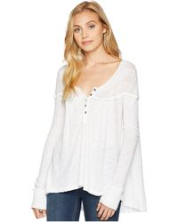 Free People - Down Under Henley (white) Women's Clothing - Lyst