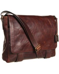 Frye - Logan Messenger (dark Brown Antique Pull Up) Messenger Bags - Lyst
